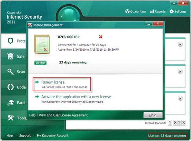 Kaspersky Internet Security: rinnovo licenza