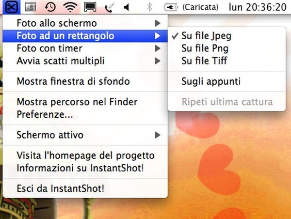 InstantShot per gli screenshot