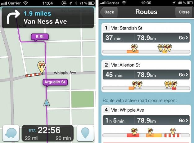 Il traffico su Waze