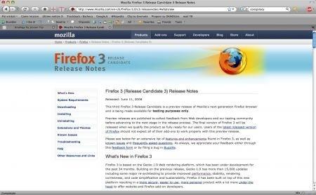 Firefox 3 RC3