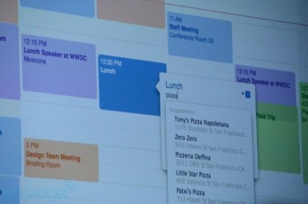 Il calendario del nuovo OS X