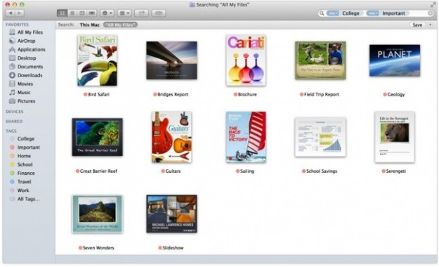 Finder di OS X Mavericks