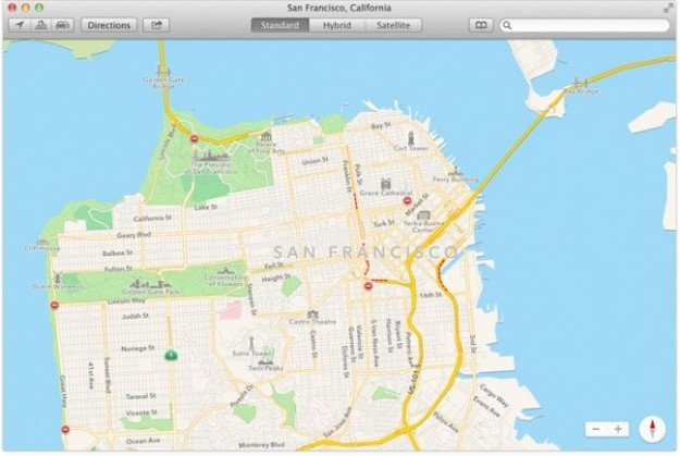 Mappe di OS X Mavericks
