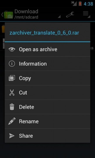Come aprire file rar su Android
