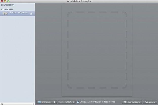 Schermata dello scanner