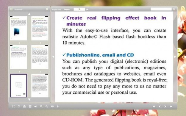 Flip Pages Worker for eBook