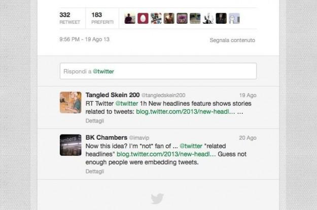 Una discussione su Twitter