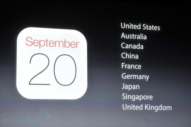 Uscita il 20 settembre