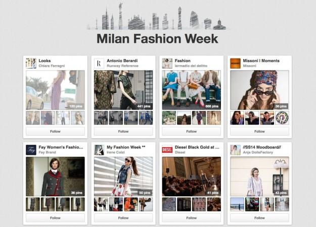 Pagina della Milano Fashion Week