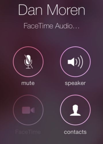 FaceTime audio