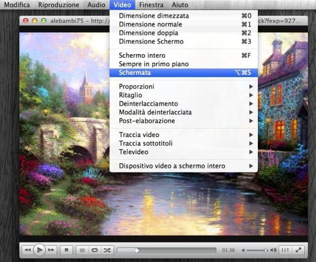 Cattura schermata su VLC