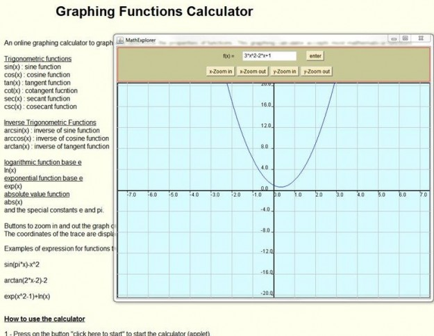 Graphing Functions Calculator