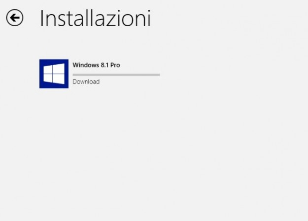 Download di Windows 8.1