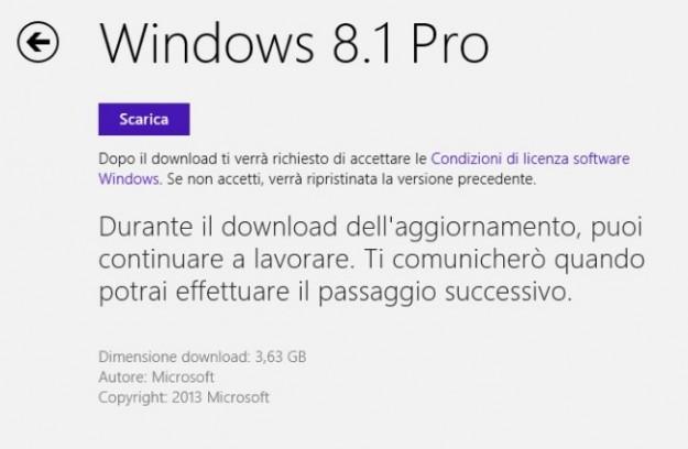 Aggiornamento di Windows 8.1