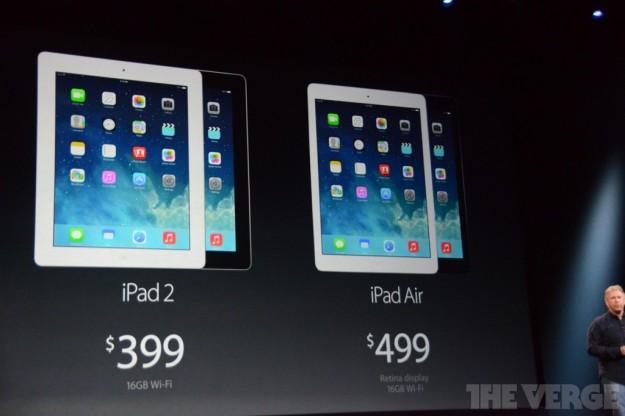 iPad 2 e iPad Air