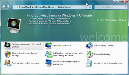 Benvenuti a Windows 7