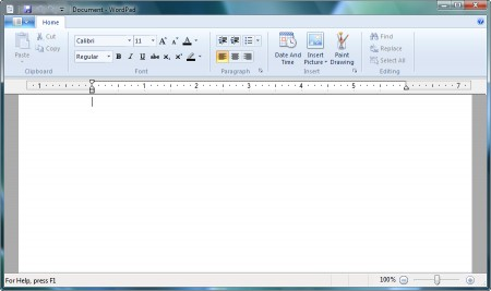 Wordpad, col Ribbon