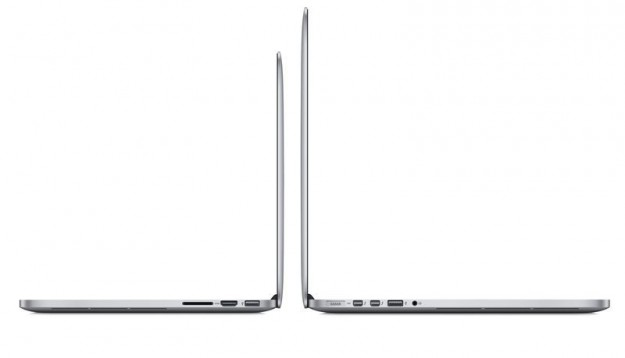MacBook Pro visti di lato