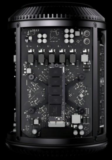Dettaglio interno del Mac Pro