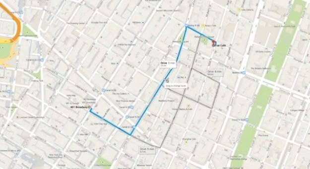 Itinerario su Google Maps