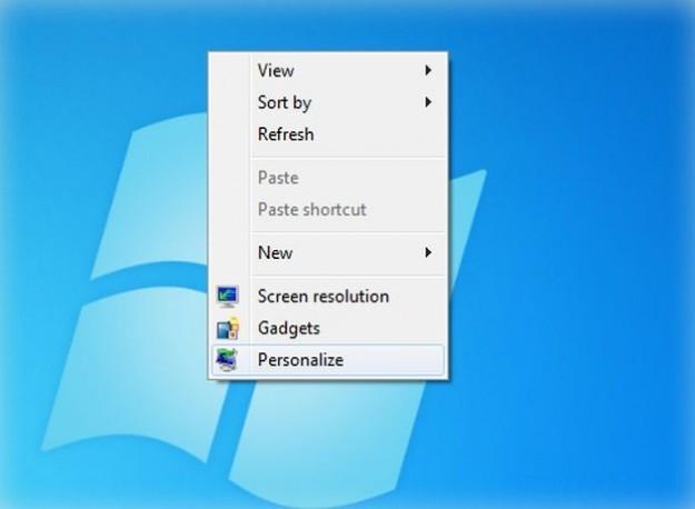 Tasto destro sul desktop
