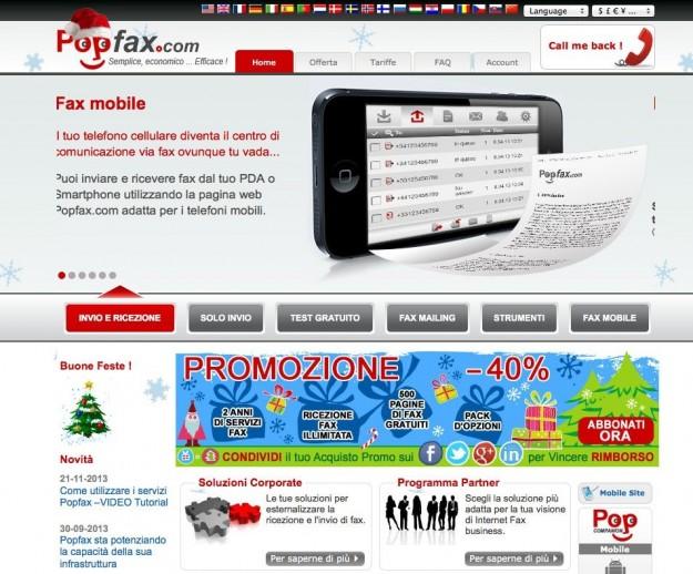 Home page di PopFax