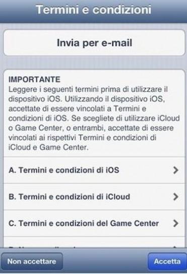 Aggiornamento di iOS