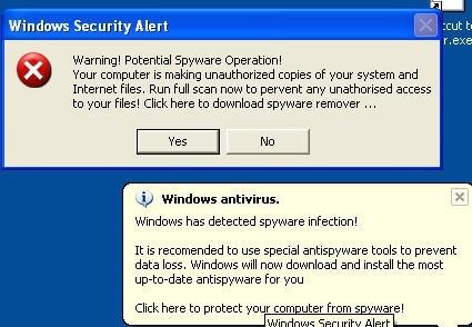 Ecco un esempio di errore finto di Windows