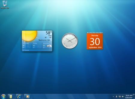 i gadget ora sono sul desktop