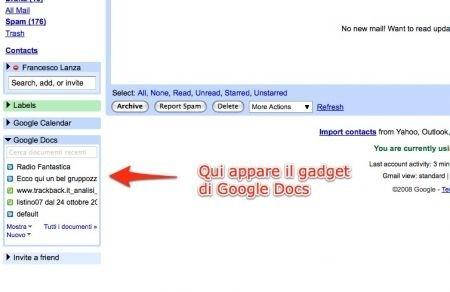 Google Docs in Gmail