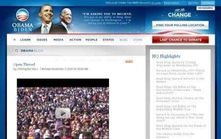 Obama: il blog ufficiale