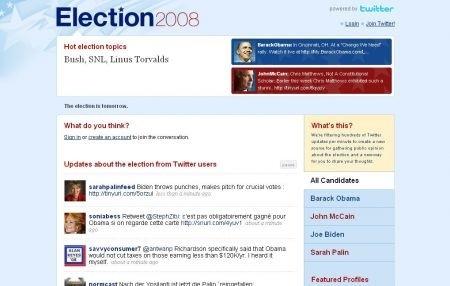 Twitter in tempo reale sulle elezioni