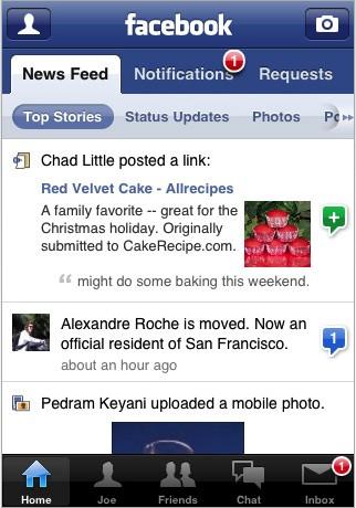 Facebook per l'iPhone