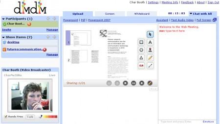 DimDim permette videoconferenze condivise