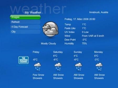 skin Blue2, previsioni del tempo