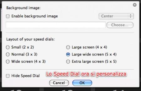 configurazione Speed Dial
