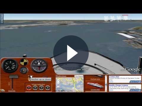 Un fantastico gioco gratuito su Google Earth: Ships