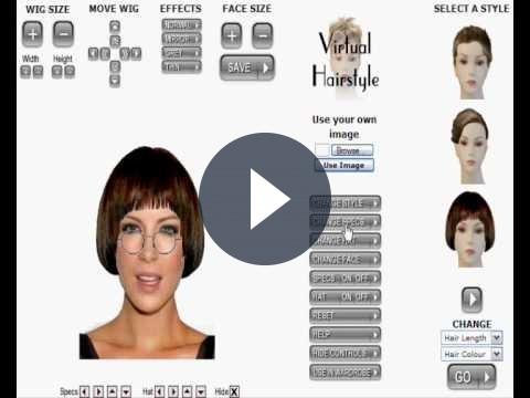 Il fotoritocco gratis online con l'accattivante Virtual Image Hairstyler