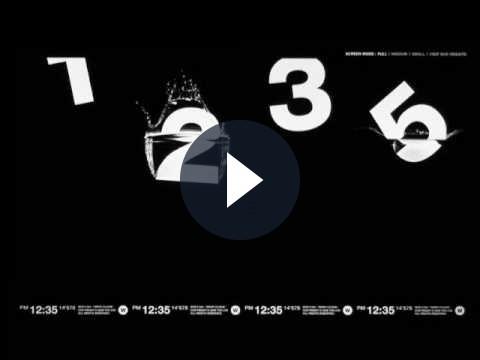 DropClock: uno splendido salvaschermo animato
