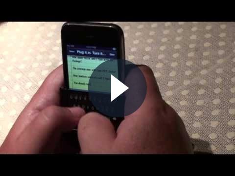 iPhone e la tastiera fisica iTwinge