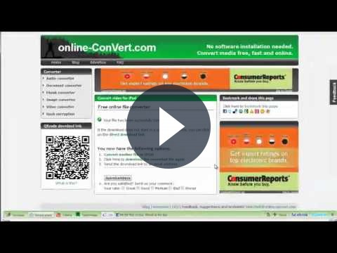 Come convertire file on line con OnlineConvert