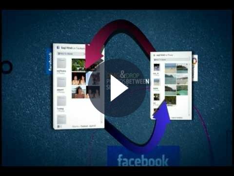 Spostare foto tra i social network con Dropico