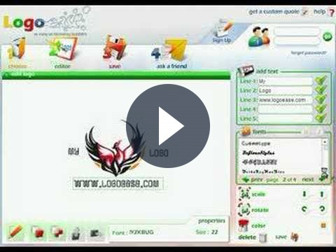Strumenti per webmaster per creare accattivanti loghi personalizzati: Logo Ease