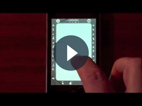 Musica su iPhone con le lettere dell'alfabeto