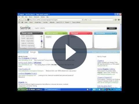Motore di ricerca con Google, Bing e Twitter: SortFix