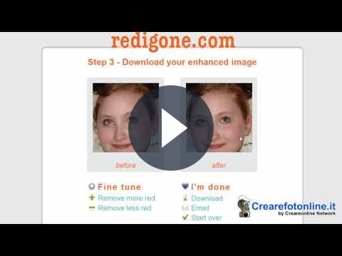 Eliminare gli occhi rossi dalle foto con Red iGone