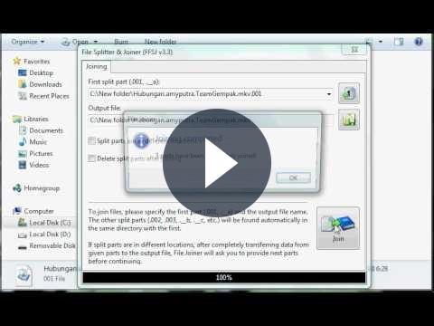 Unire e dividere gratis video e file audio con FFSJ