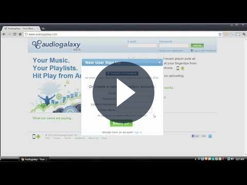 Ascoltare musica in streaming con AudioGalaxy