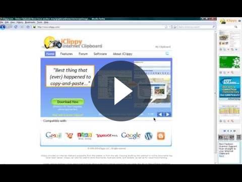 Screnshoot dello schermo su internet con iClippy