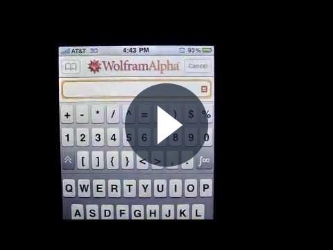 Wolfram Alpha: app iPhone del motore di ricerca